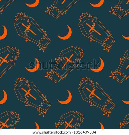 vector seamless pattern orange