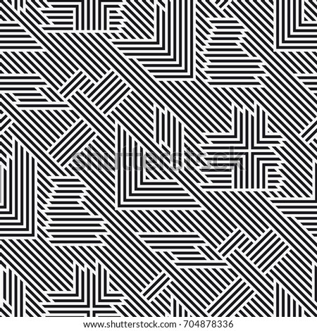 vector seamless pattern regular abstract striped texture geometric pattern of straight lines black and white