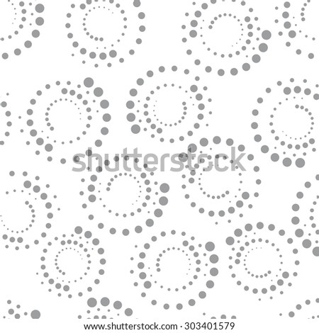 Vector seamless pattern. Repeating geometric dotted texture. Black and white abstract background