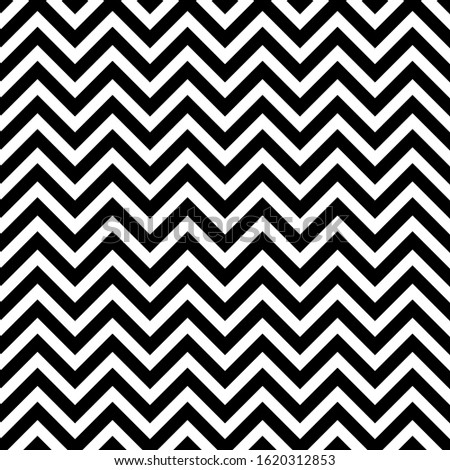 Vector seamless pattern. Repeating print with chivron. Background with chevrons. Retro style for vintage design. Simple classic shevron. Monochrome black and white backdrop. Abstract tileable texture