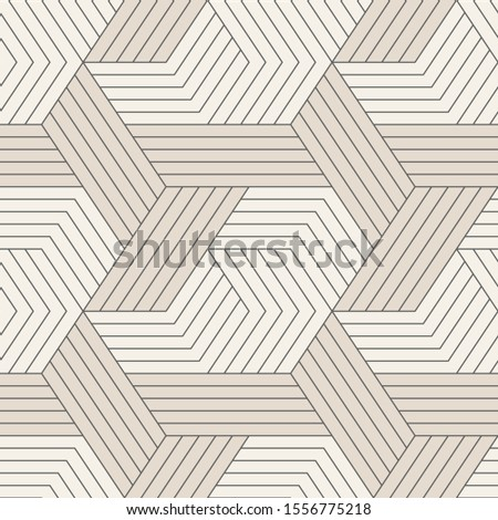 Vector seamless pattern. Seamless pattern with symmetric geometric lines. Repeating geometric tiles.