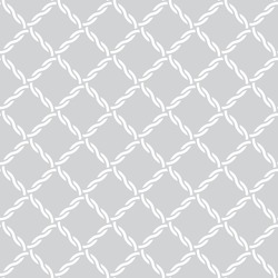 Vector seamless pattern. Simple minimal abstract geometric background. Modern stylish texture. Regularly repeating geometrical tiled grid with intersecting waved strips. Tiles with rhombuses, diamond.