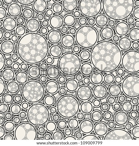 vector seamless pattern. stylish background with rings
