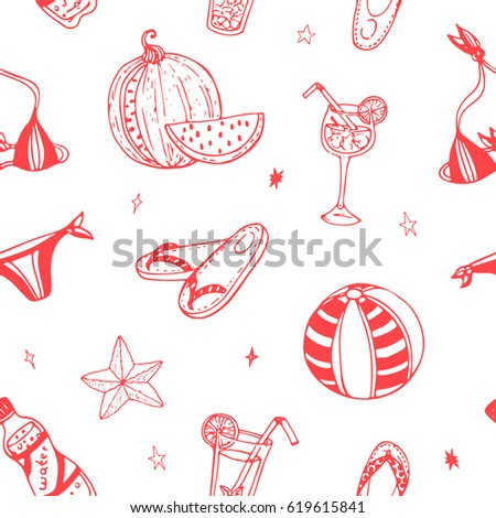 vector seamless pattern summer