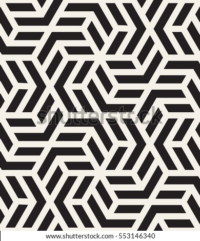Vector seamless pattern with chevron. Modern geometric texture. Repeating abstract background. Polygonal grid with bold striped elements.
