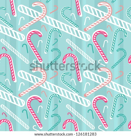 vector seamless pattern with christmas candies