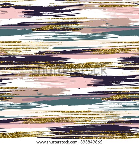 stock-vector-vector-seamless-pattern-with-hand-drawn-gold-glitter-textured-brush-strokes-and-stripes-hand