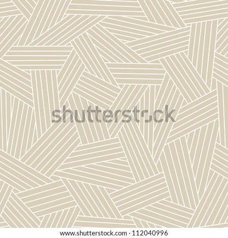 Vector seamless pattern with interweaving of light lines. Traditional hatching of architectural hand drawn graphic. Simple abstract ornamental gray illustration with stylized texture of covering - stock vector