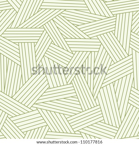 Vector seamless pattern with interweaving of strokes. Traditional hatching of architectural hand drawn graphic. Simple abstract ornamental  illustration with stylized grass, carpet, lawn, covering - stock vector