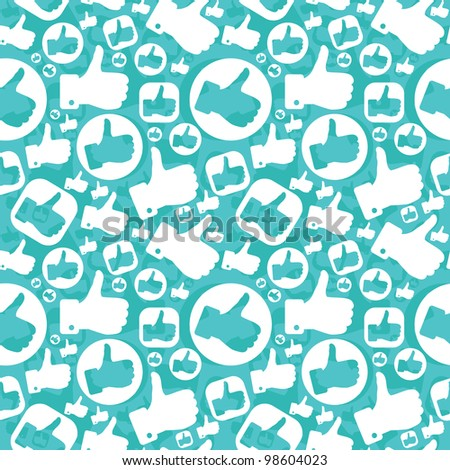 vector seamless pattern with like signs - stock vector