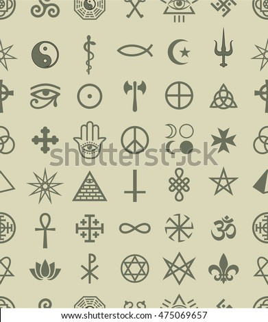 Royalty Free Vector Set Of Magic Signs And Various 475653229 Stock