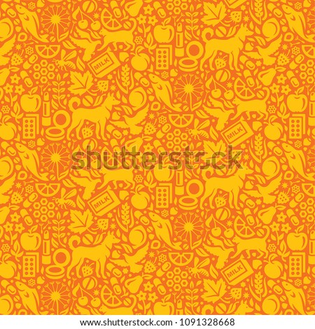 Vector seamless pattern with objects that could cause allergy