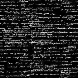 Vector seamless pattern with real hand written text on black background. Lectures archives on different science, geometry, math, physics, electronic engineering subjects. Natural hand writing style.