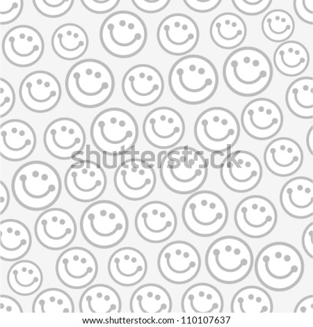 Vector seamless pattern with smileys. For easy making seamless pattern just drag all group into swatches bar, and use it for filling any contours.