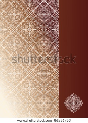 vector seamless pattern with snowflakes on the left and place for your text at the right