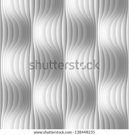 Vector seamless pattern with spherical volume shapes Ornamental monochrome illustration with geometric texture of wavy forms Simple abstract decorative background with optical effect for print web