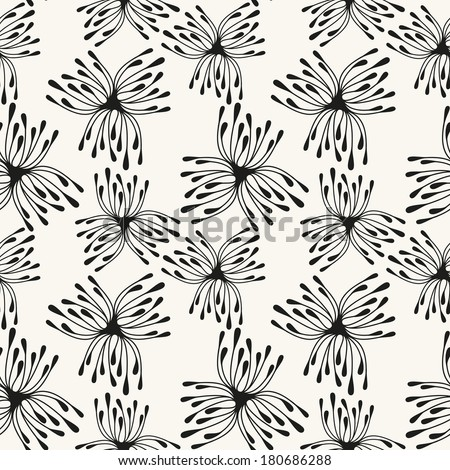 Vector seamless pattern with spots. Modern repeating texture. Fancy print with stylized flowers #180686288
