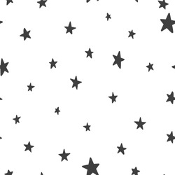 Vector seamless pattern with stars on a white background. Suitable for web backgrounds, textiles and wrapping paper.
