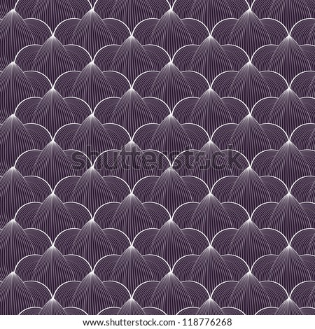 Vector seamless pattern with stylized line drawing