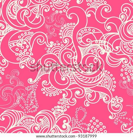 vector seamless pattern with swirls