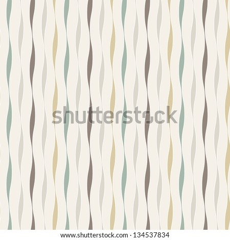 Vector seamless pattern with wavy stripes. Fabric stylish texture. Repeating pastel background
