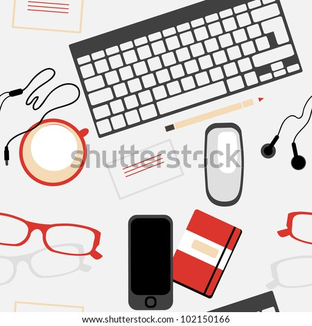 vector  seamless pattern with web designer tools