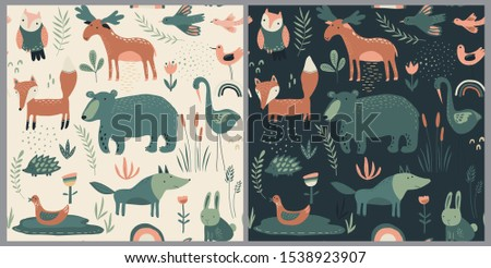 vector seamless patterns with