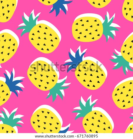 vector seamless pineapple fruit