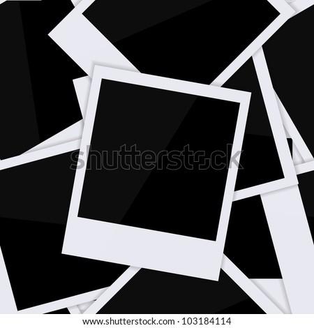 Vector seamless polaroid photo background. Eps10