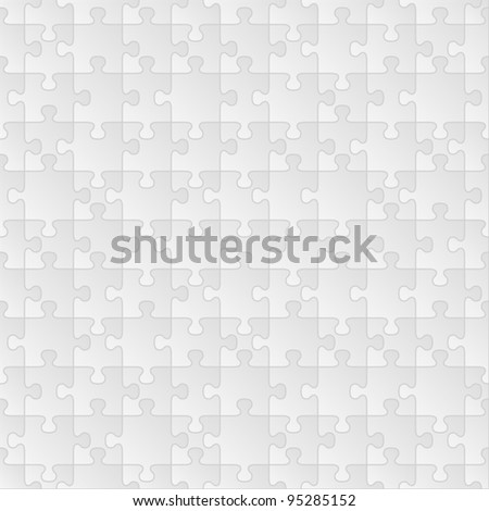 Vector seamless puzzle background