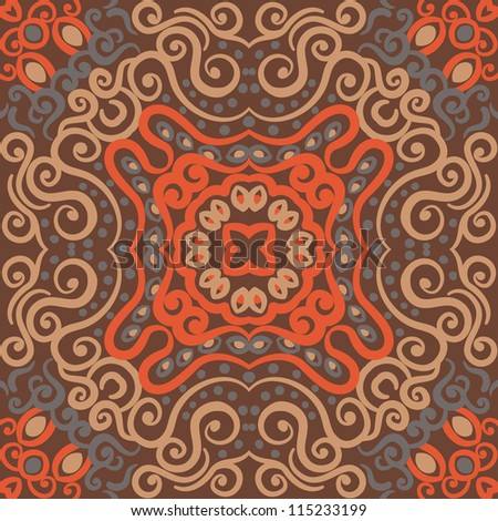 vector seamless retro floral pattern background