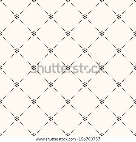 Vector seamless retro pattern, polka dot with snowflakes. Can be used for wallpaper, pattern fills, web page background,surface textures