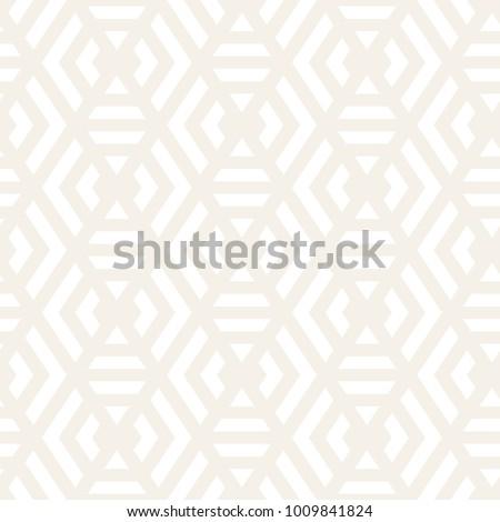 Vector seamless stripes subtle pattern. Modern stylish texture with monochrome trellis. Repeating geometric hexagonal grid. Simple lattice graphic design.