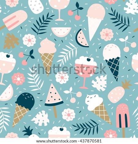 vector seamless summer pattern