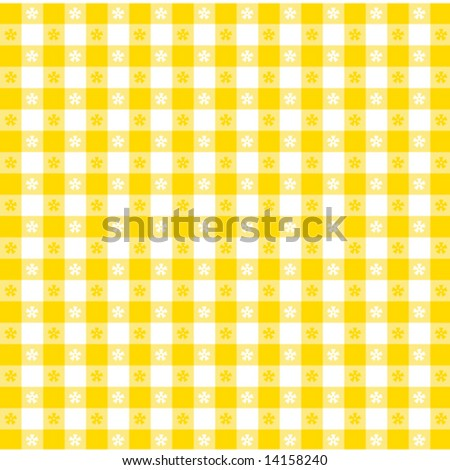 Vector - Seamless Tablecloth Pattern, gold, white for picnics, cafes, restaurants, bistros, decor. EPS8 file includes pattern swatch that seamlessly fills any shape.