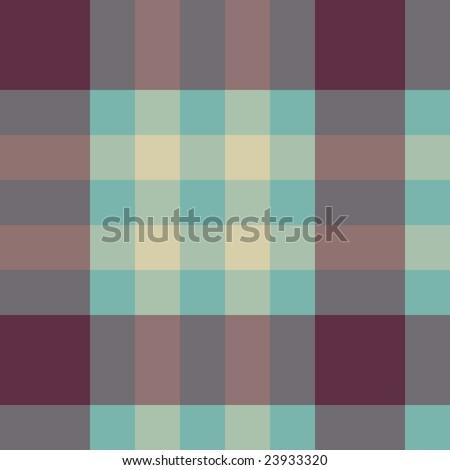 Vector seamless tartan pattern in retro colours
