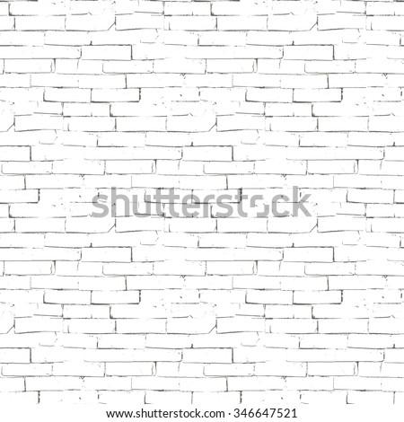 Vector seamless texture of brick wall