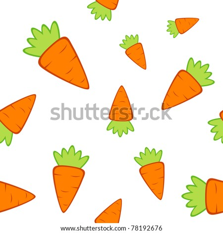 Vector seamless texture with a lot of carrots