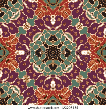 vector seamless traditional floral pattern wallpaper