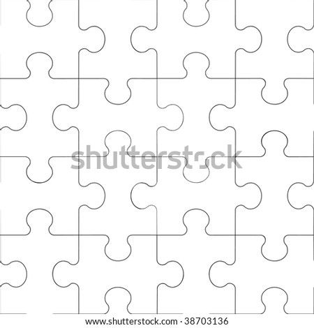 Vector. Seamless transparent ornament puzzle in color 60. More seamless see in portfolio