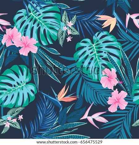 vector seamless tropical
