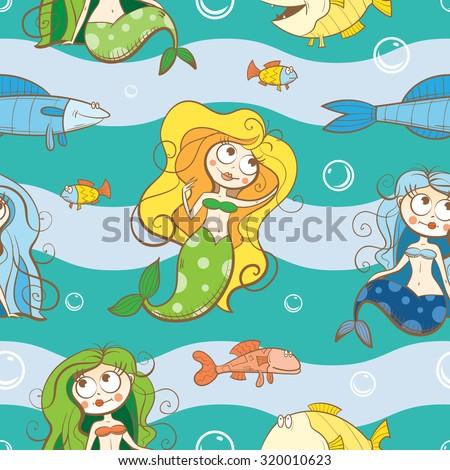 vector seamless underwater