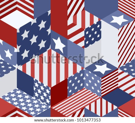 vector seamless usa flags...