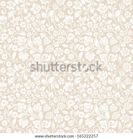 vector seamless vintage floral...