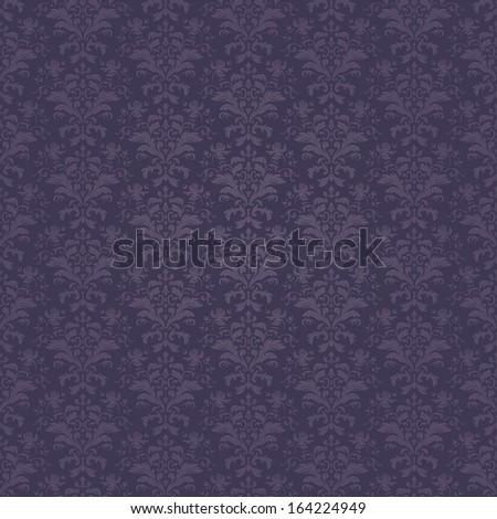 Vector seamless wallpaper pattern/Dark wallpaper pattern
