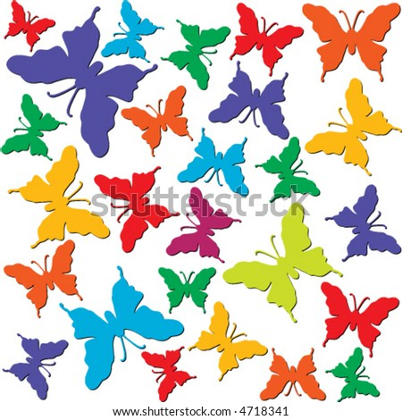 wallpaper butterflies. Multi color utterflies on