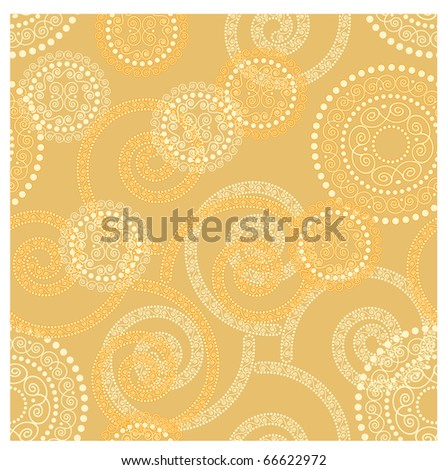 vector seamless winter background with golden snowflakes. clipping mask