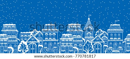 vector seamless winter snowy