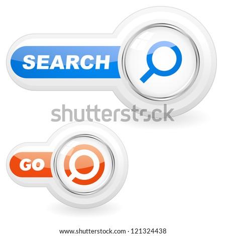 Vector search icon set.