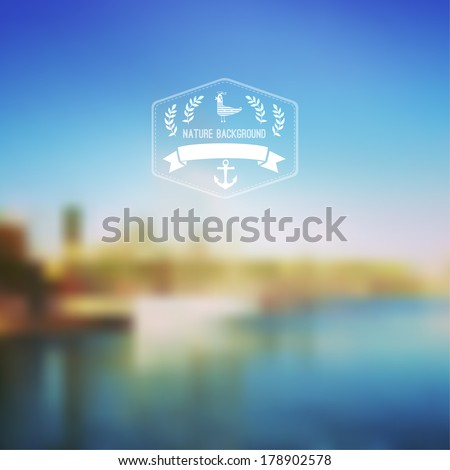 vector seaside landscape with